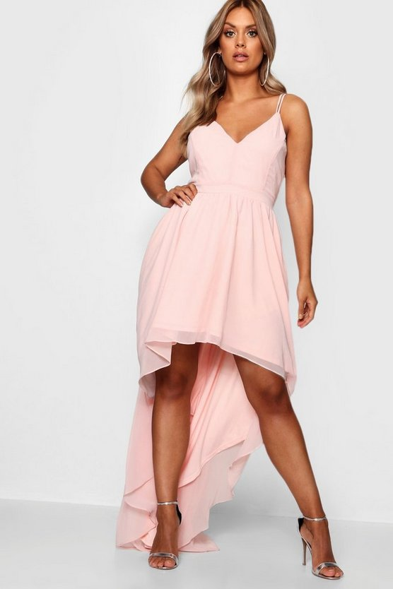 Plus Dip Back Hem Occasion Dress
