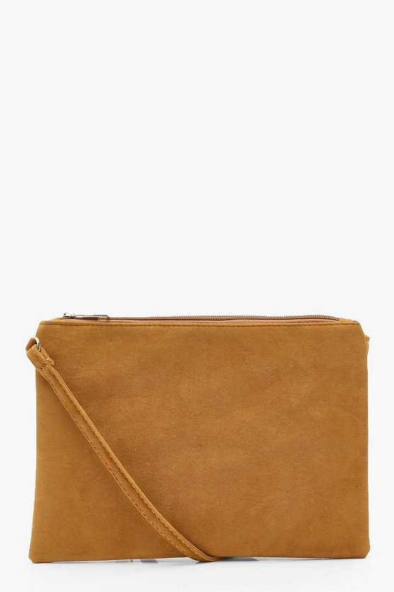 Plus Suedette Cross Body Bag
