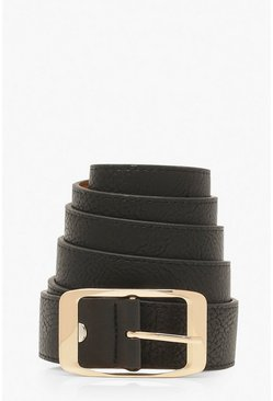 Womens Black Plus Imogen Chunky Boyfriend Belt