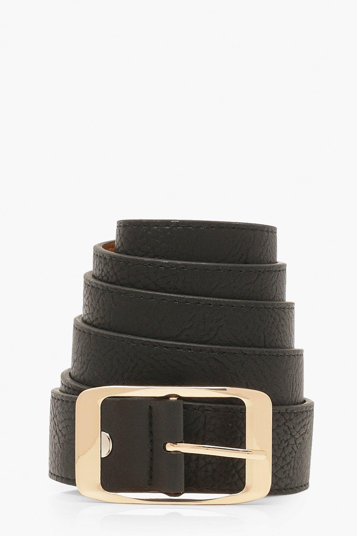 275be0f57 Womens Black Plus Imogen Chunky Boyfriend Belt. Hover to zoom