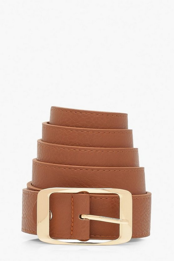 Womens Tan Plus Imogen Chunky Boyfriend Belt
