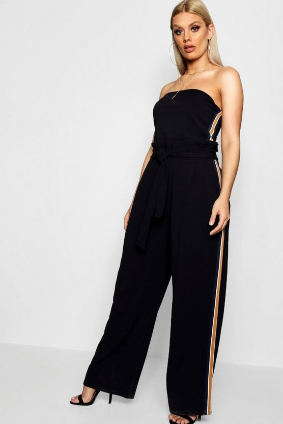 Plus Liv Sport Stripe Top + Wide Leg Co-ord