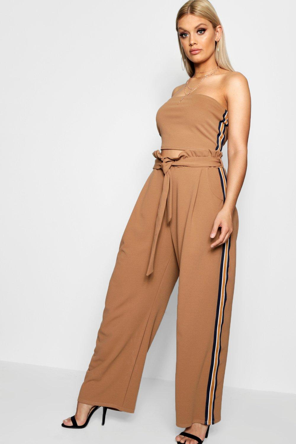 f8bb12d16fd0f4 Plus Liv Sport Stripe Top + Wide Leg Co-ord. Hover to zoom