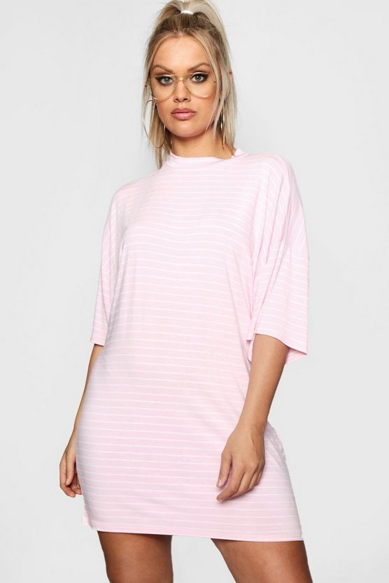 Plus Stripe T Shirt Dress