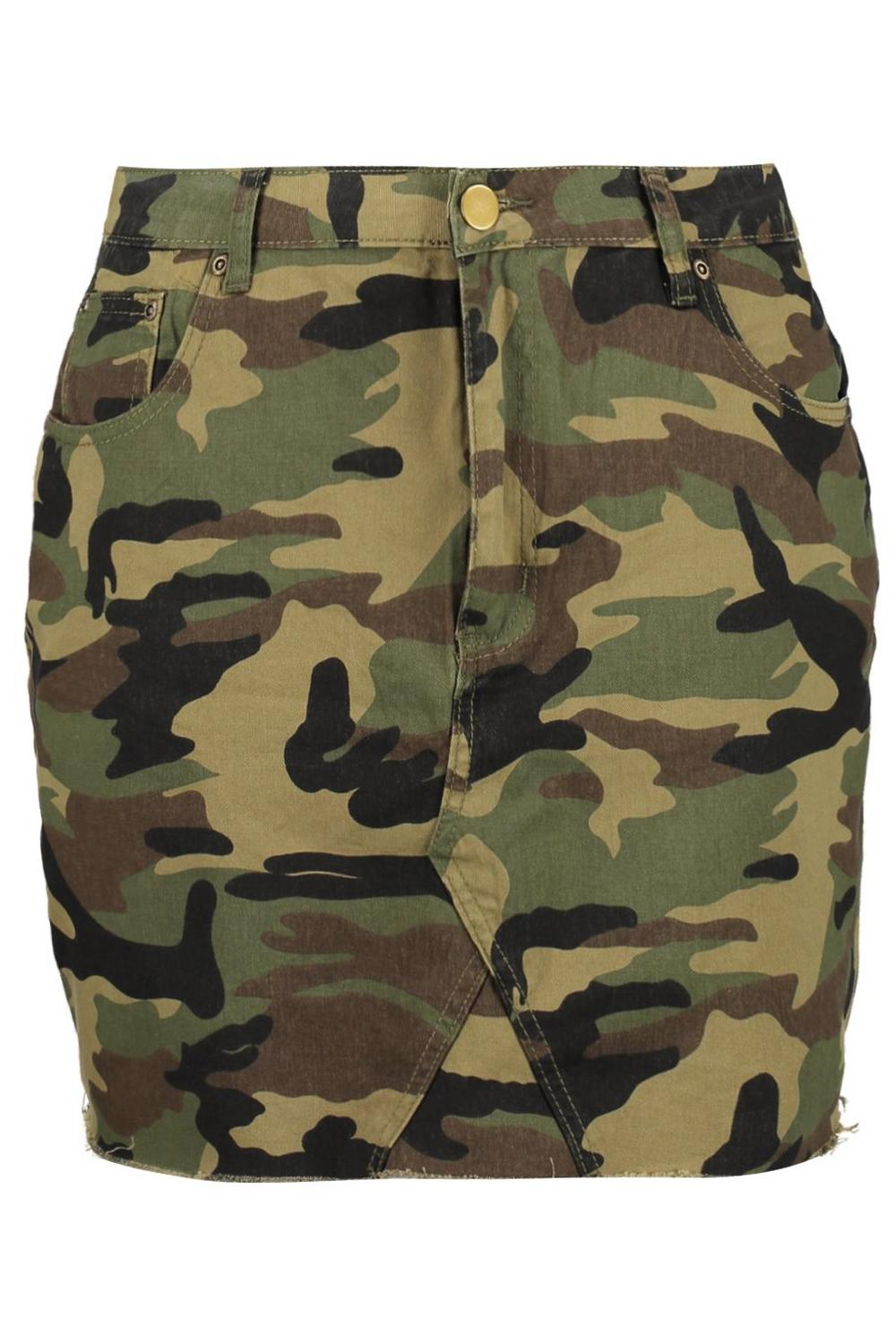 Plus Camo khaki Denim Denim khaki Plus Camo Skirt Plus Camo Skirt Denim 861qxEwr1a