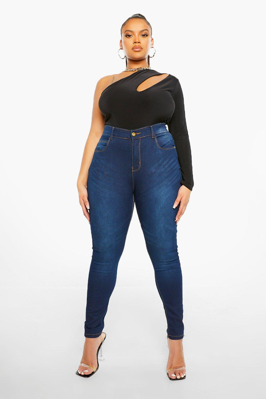 Jeans Skinny 5 mid blue Plus Pocket High Rise w8SHOq46