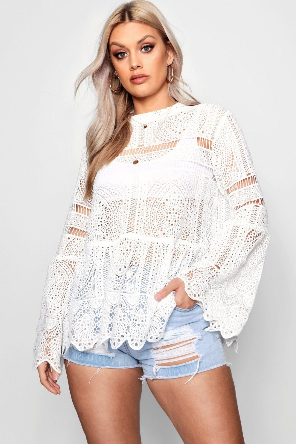 cccc9ea1f14 Plus Bridget Crochet Lace Top