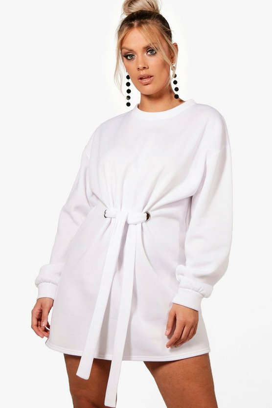 Plus Front Tie Sweat Dress