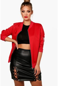 Red Plus  Scuba Bomber Jacket