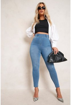Womens Light blue Plus  Basic Jegging