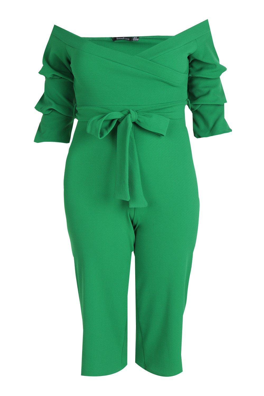 atado Plus de largo descubiertos con mono verde hombros hojas ap1Hwq4pF7