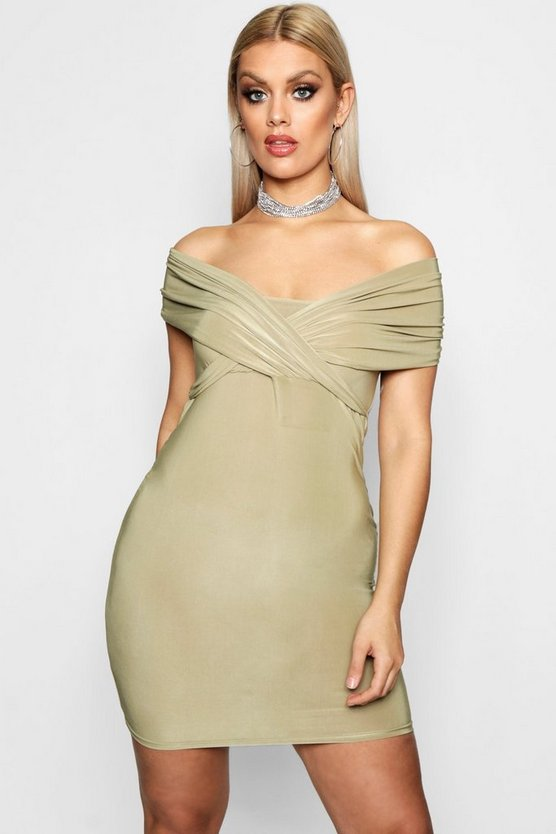 Plus Off Shoulder Bodycon Dress