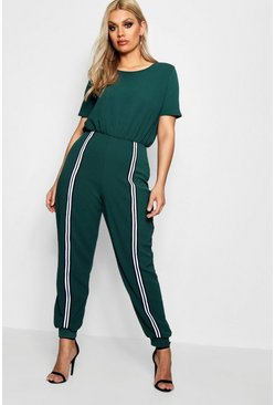 Womens Bottle Plus Tape Detail Jumpsuit