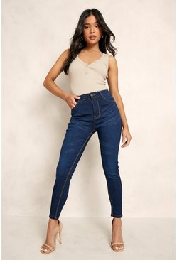 Indigo Petite High Rise 5 Pocket Skinny Jean