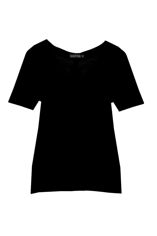 V T black Neck Shirt Plus Supersoft 8wfBqz