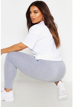 Plus – Leggings, Grau, Damen