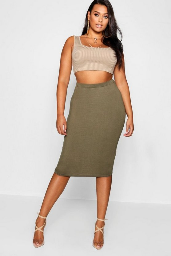 Plus  Midi Tube Skirt
