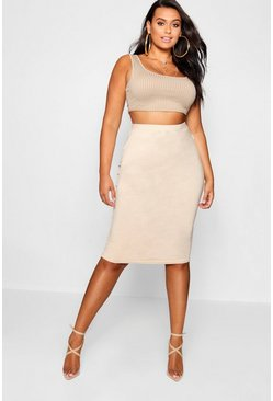 Womens Stone Plus  Midi Tube Skirt