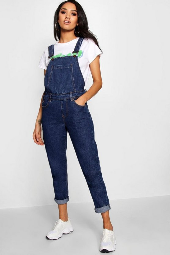 Petite Dark Blue Wash Dungaree