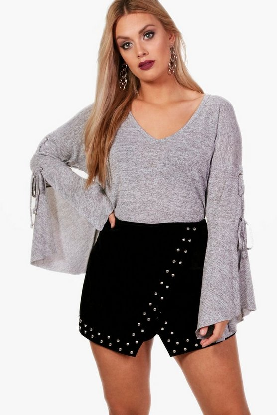 Plus Erin Flare Sleeve Jumper