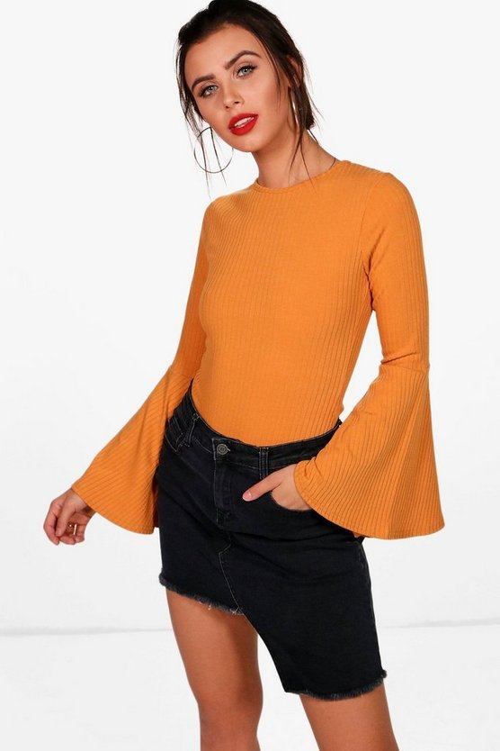 Plus Rib knit Short Sleeve Bodysuit | Boohoo UK