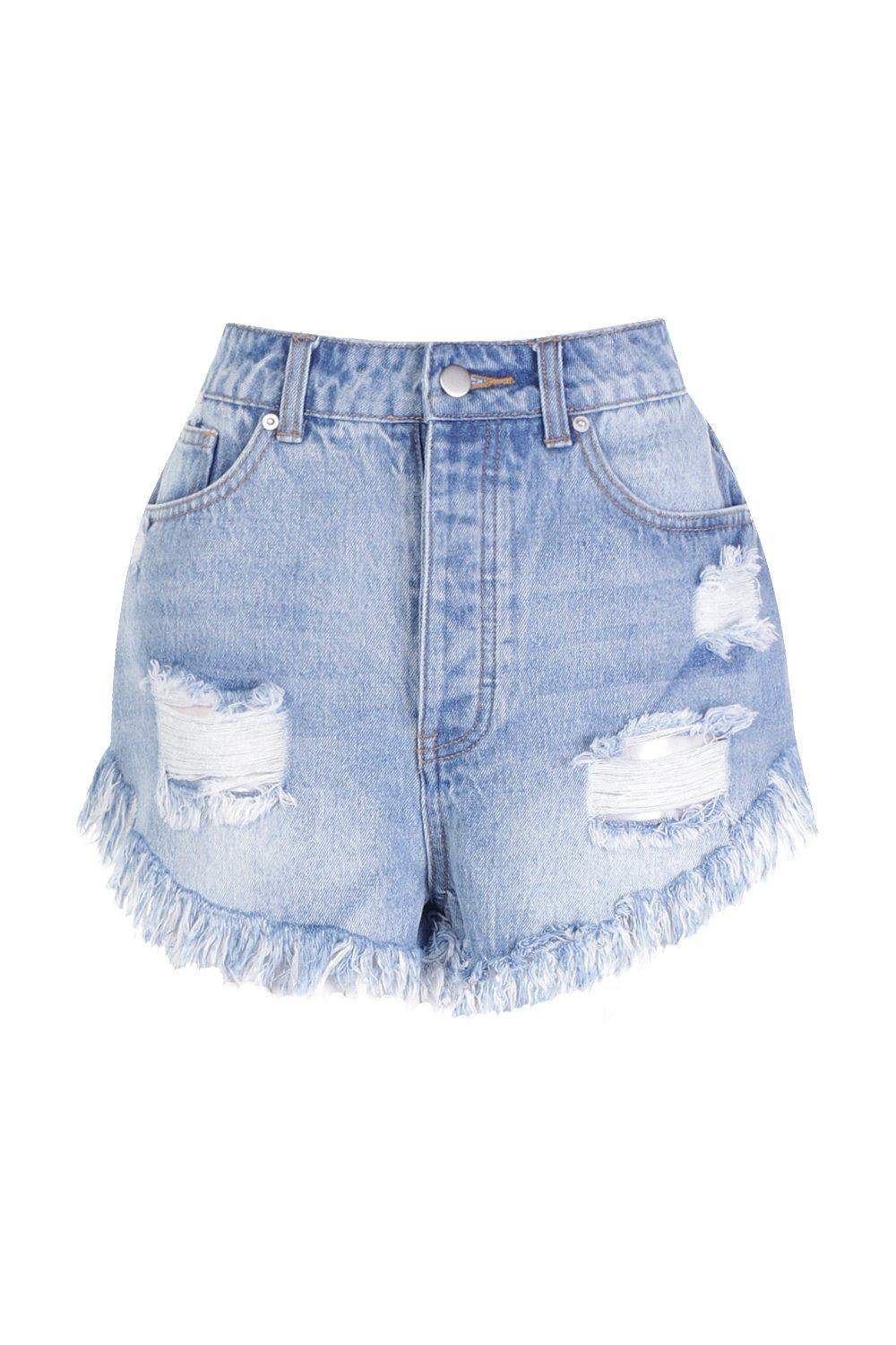 Extreme Frey Short Hem High Waisted Petite Denim blue EtnwBqxO6