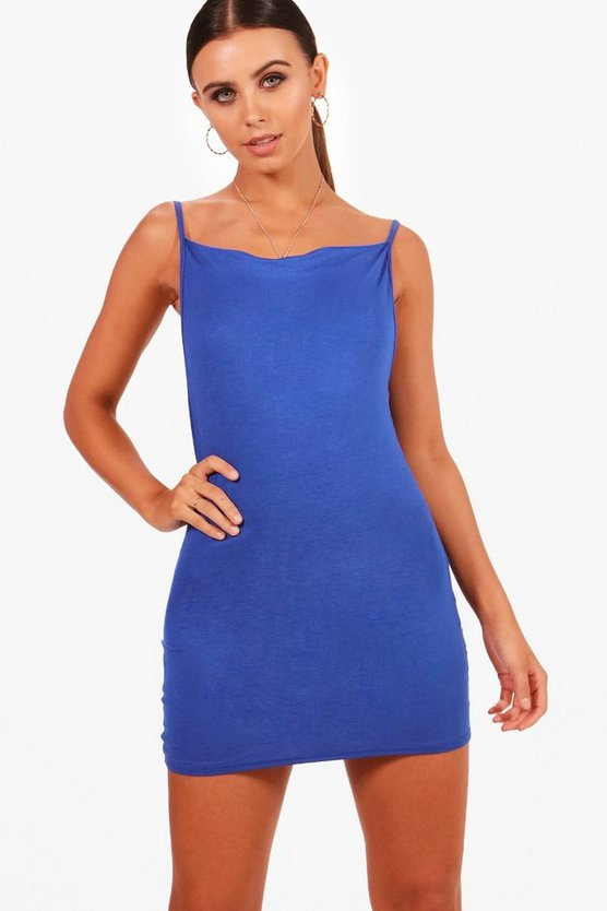 Petite Freya Cowl Neck Micro Mini Dress