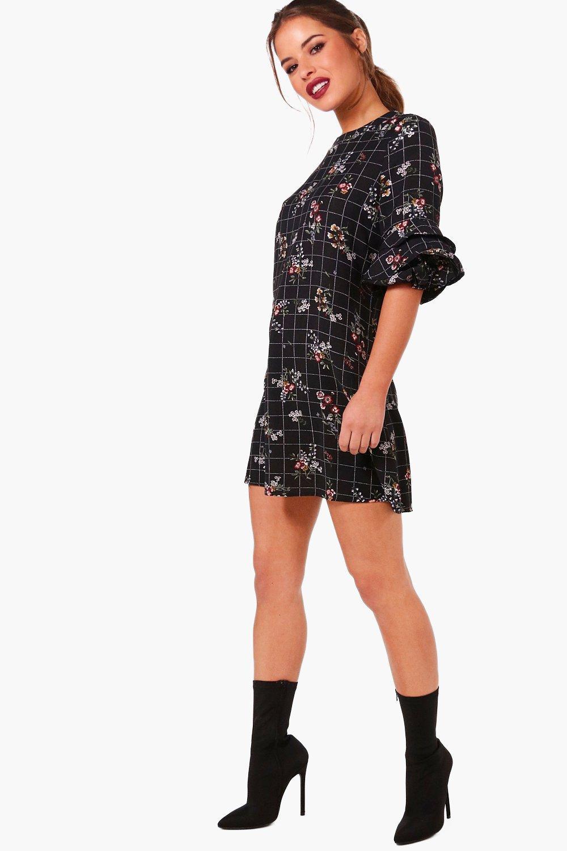 Boohoo-Womens-Petite-Rachel-Floral-Shift-Dress