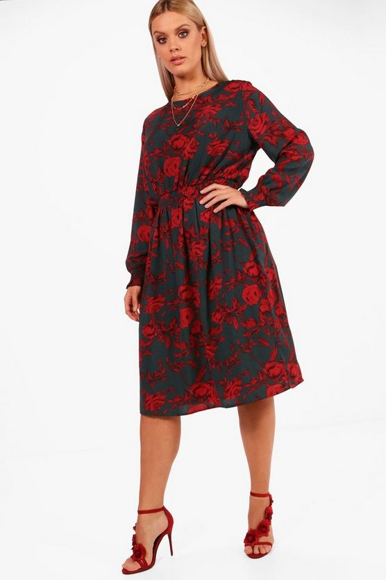 Plus Indea Floral Midi Dress