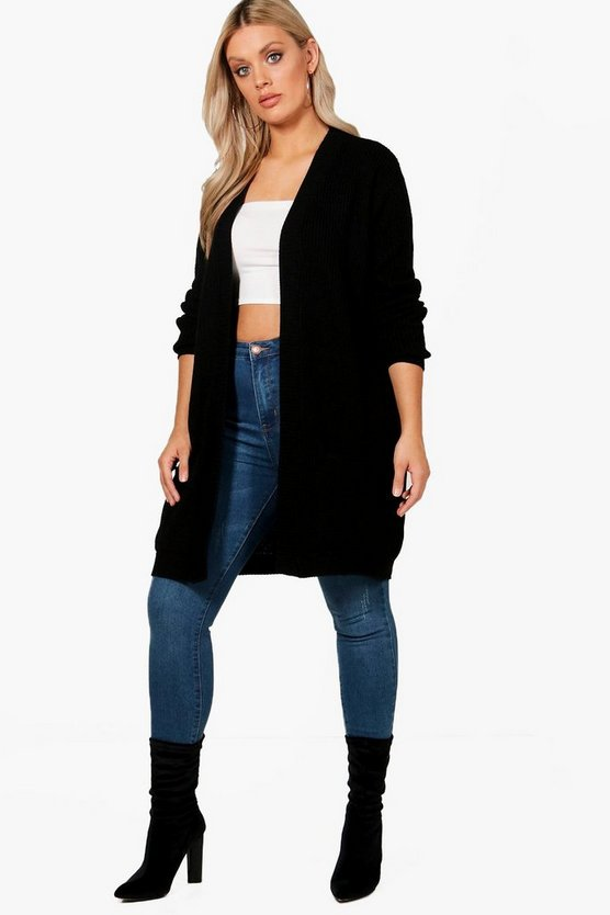 Plus Evie Oversized Longline Cardigan