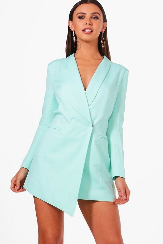 Petite  Asymmetric Blazer Dress