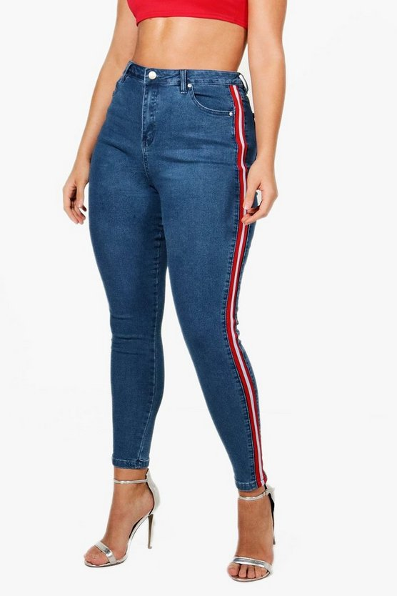 Plus Lizzy Sports Stripe Skinny Jean