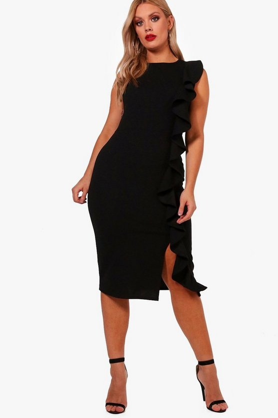 Plus Scarlett Ruffle Midi Dress