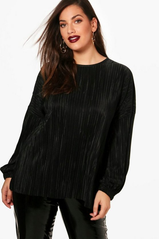 Plus Charlotte Pleated Tunic Top