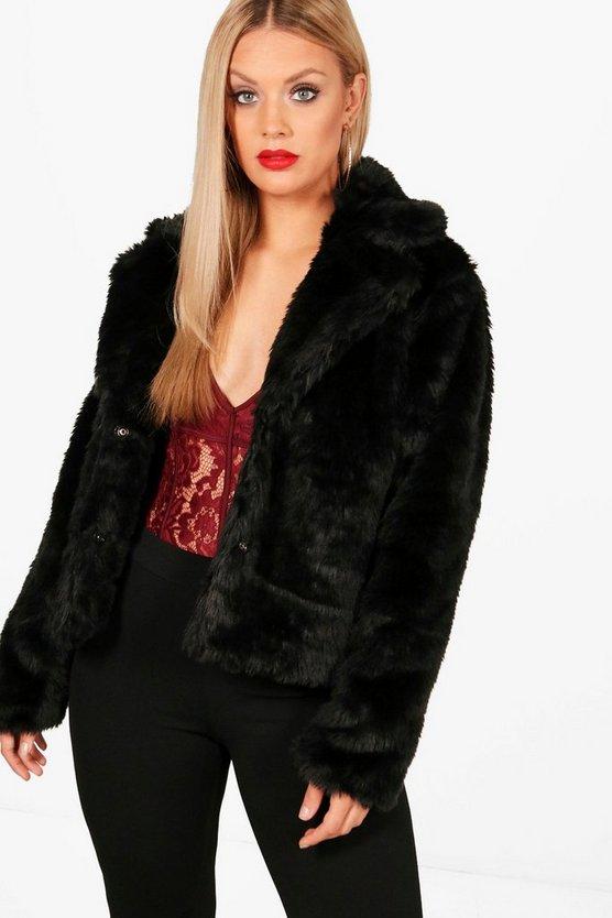 Plus  Faux Fur Coat
