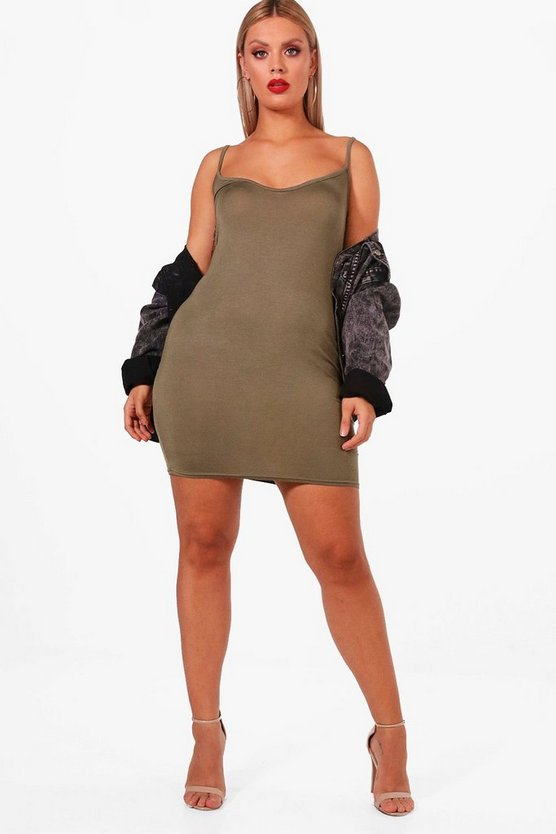 Plus Faith Strappy Basic Bodycon Dress