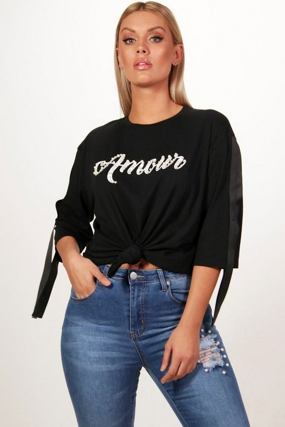 Plus Amore Pearl T Shirt