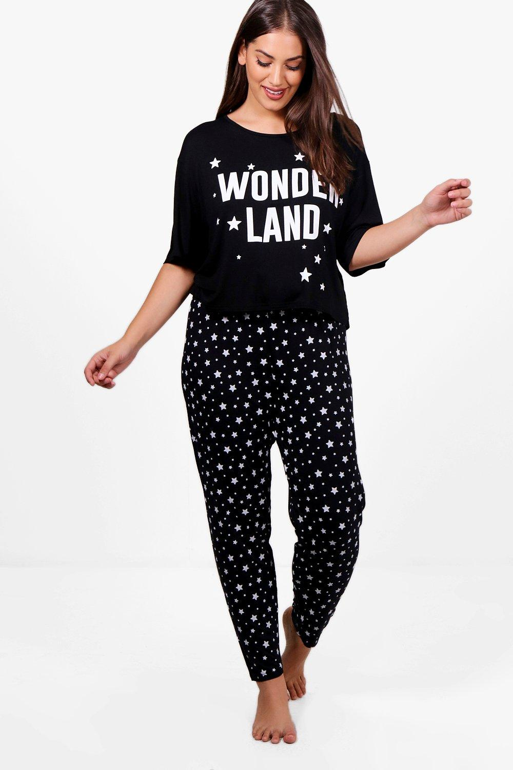 Plus Jess Christmas Wonderland Pj Set | Boohoo