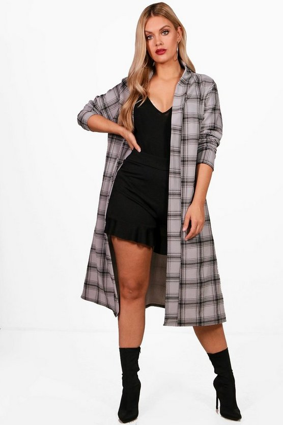 Plus Check Duster Jacket