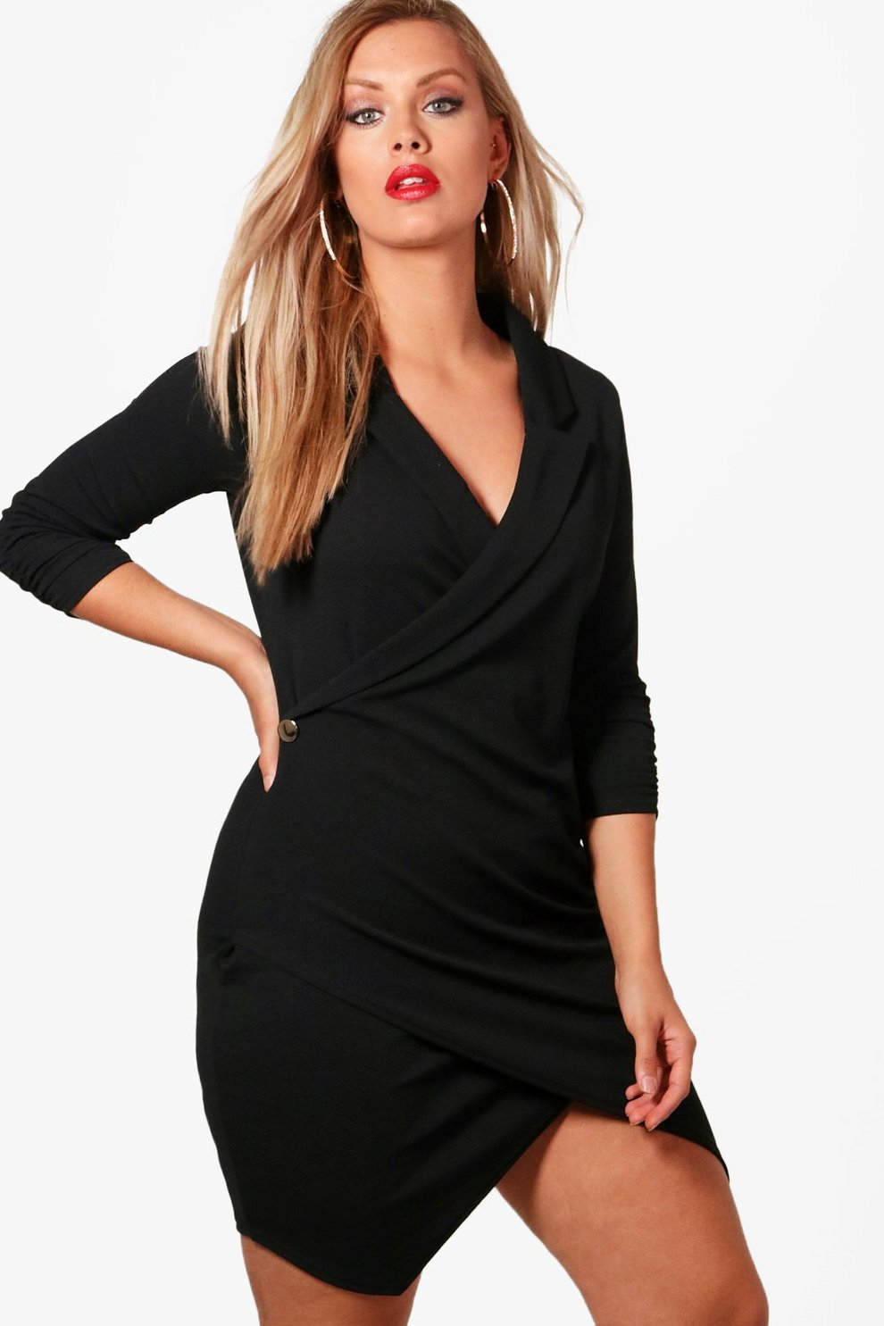 257530b0e76e3 Plus Wrap Blazer Dress | Boohoo