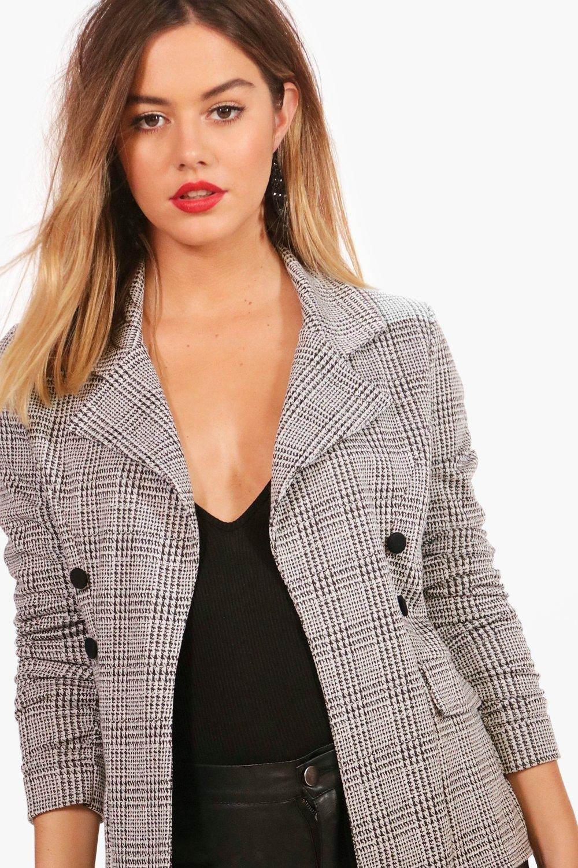 Petite Blazer Sleeve Petite Check Check Button X5qwI