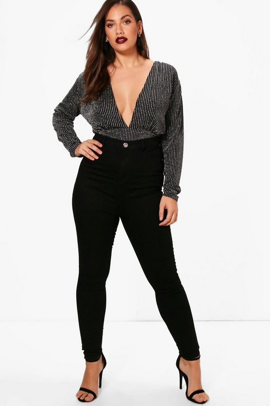 Black Plus  High Rise Jegging