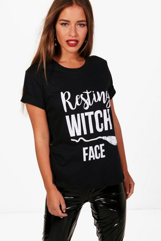 Petite Kate Resting Witch Face T-Shirt