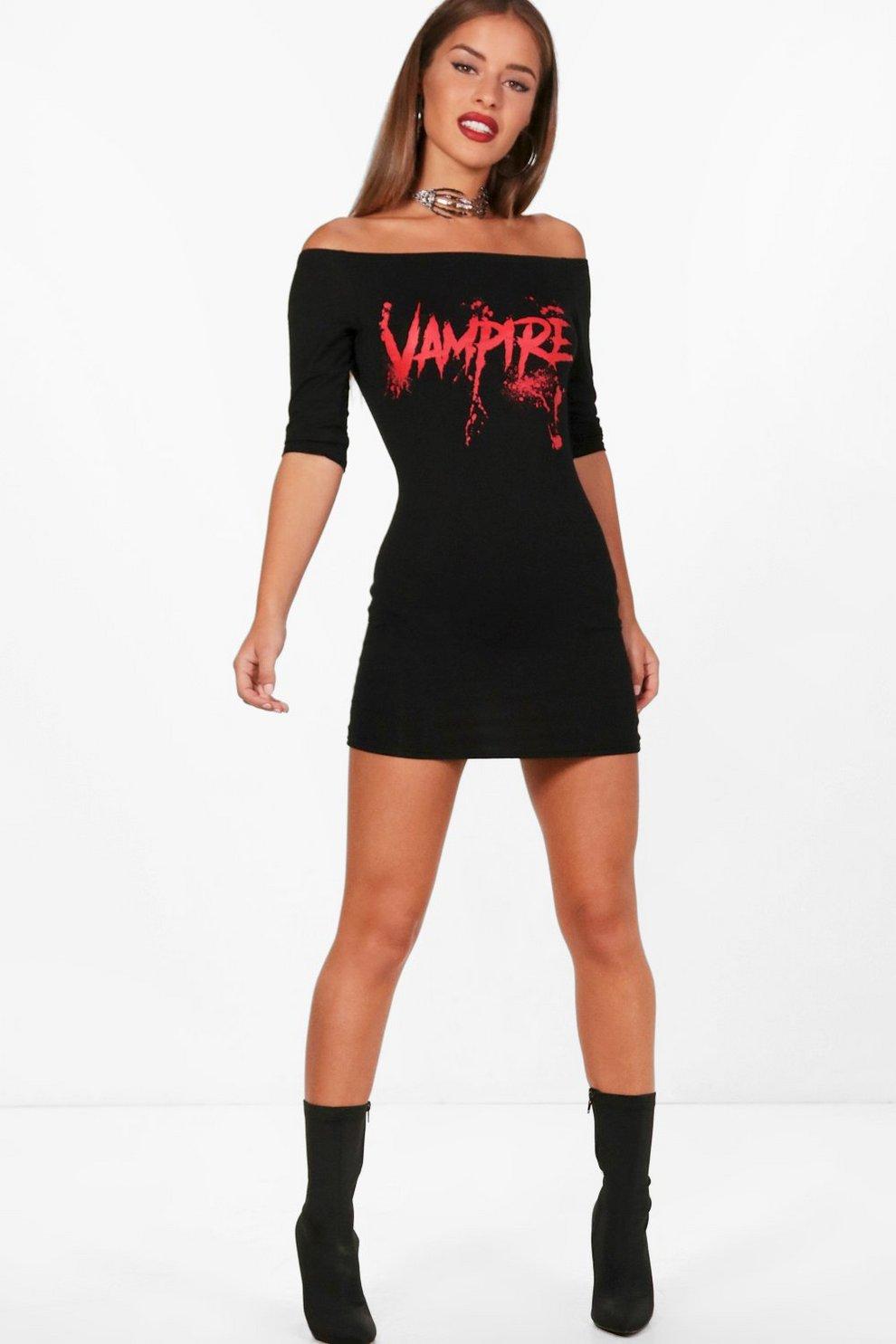 28c1a03714 Womens Black Petite Charlotte Halloween Vampire Dress