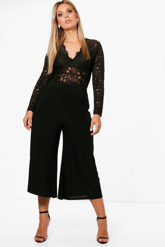Plus Slinky Wide Leg Culotte