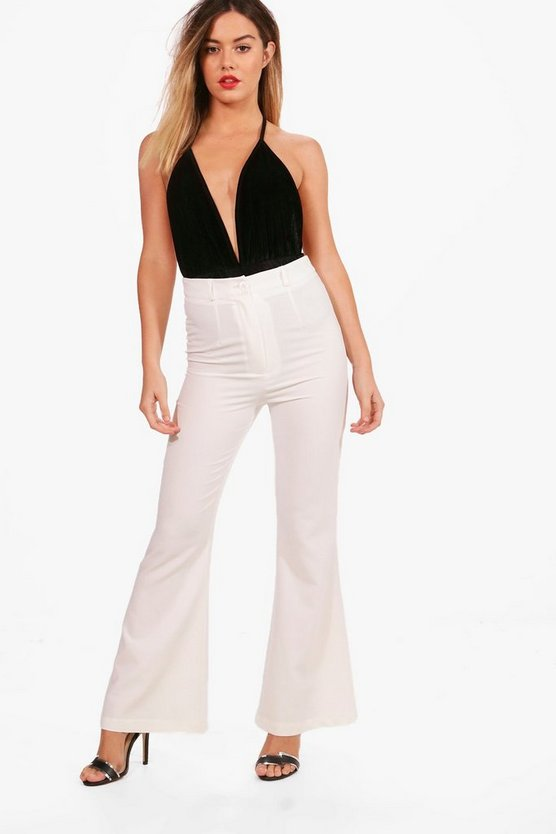 Petite Tailored Flare Trouser