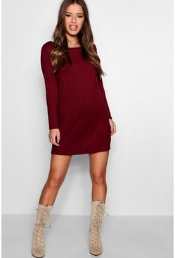 Cranberry Petite  Long Sleeve Shift Dress