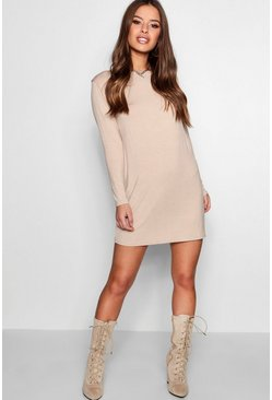 Sand Petite  Long Sleeve Shift Dress