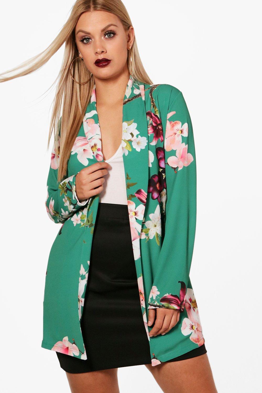 Plus Plus Oriental Belted green Blazer Oriental 8HaWWRwqZ