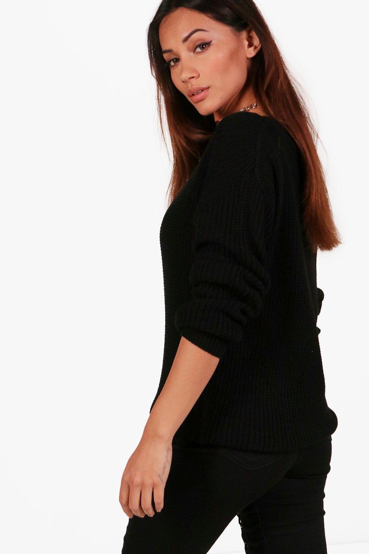 Jumper Petite Petite black Oversized Oversized qOtSw0Y0